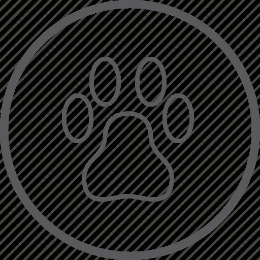 circle, pet icon