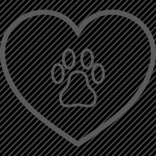 heart, pet icon