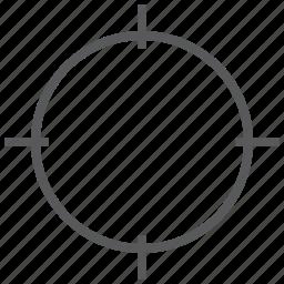 crosshair, focus, goal, mark, shooting, target icon