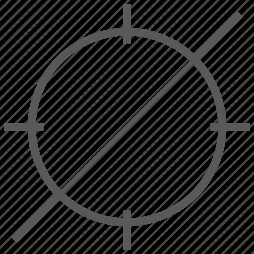 access, crosshair, deny, focus, goal, target icon