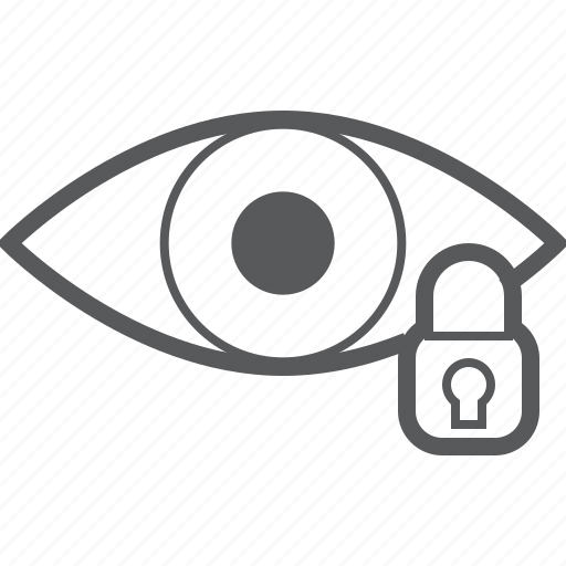 eye, eyes, lock, locked, protect, security, view icon