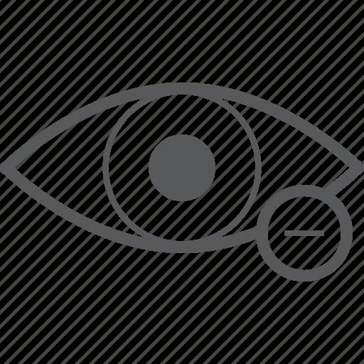 delte, eye, eyes, minus, remove, view icon