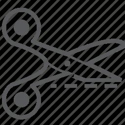 cut, design, line, scissor, scissors icon