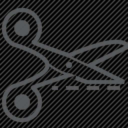 Cut, line, scissor, design, scissors icon - Download on Iconfinder