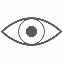 eye, eyes, look, view, vision icon