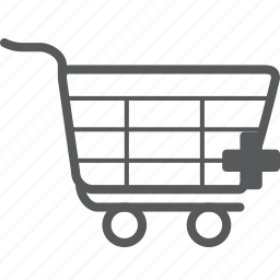 add, cart, create, new, plus, shopping, trolley icon
