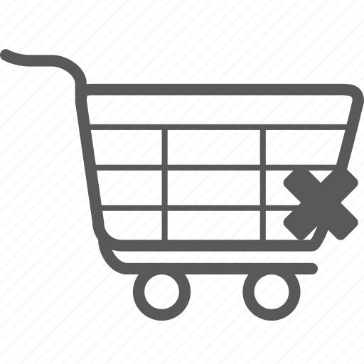 cancle, cart, delete, remove, shopping, trash, trolley icon