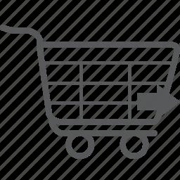 buy, cart, forward, next, right, shopping, trolley icon