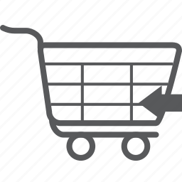 back, buy, cart, left, previous, shopping, trolley icon