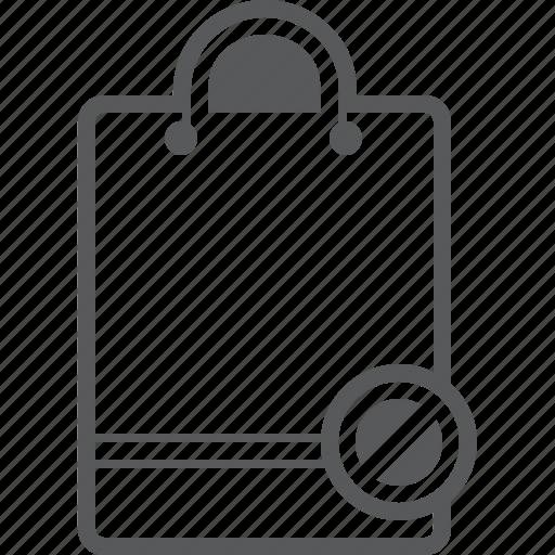 access, bag, buy, deny, shop, shopping icon