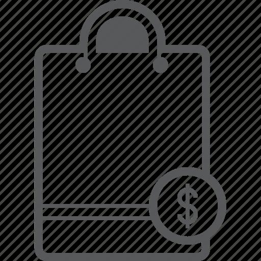 bag, buy, cash, dollar, money, payment, shop icon