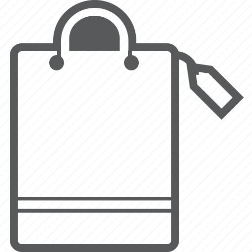 Bag, tag, with, label, price, sale, shop icon - Download on Iconfinder