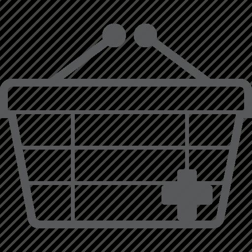 add, basket, buy, checkout, create, plus, shop icon