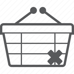 basket, buy, cancel, checkout, delete, remove, shop icon