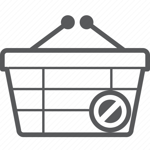 access, basket, buy, checkout, deny, shop icon