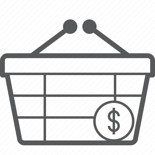basket, buy, checkout, currency, dollar, money, shop icon