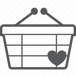 basket, buy, checkout, favorite, heart, love, shop icon