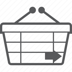 basket, buy, checkout, forward, next, right, shop icon