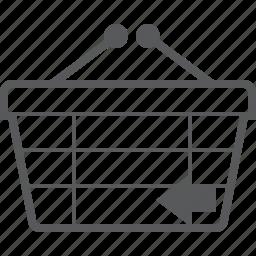 back, basket, buy, checkout, left, previous, shop icon