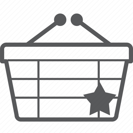 basket, buy, checkout, favorite, like, shop, star icon