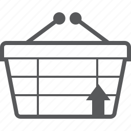 arrow, basket, buy, checkout, shop, up, upload icon