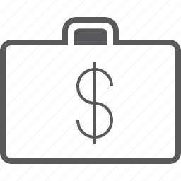 bag, briefcase, business, currency, dollar, finance, money icon