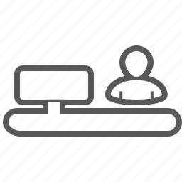 account, cashier, payment, person, seller icon