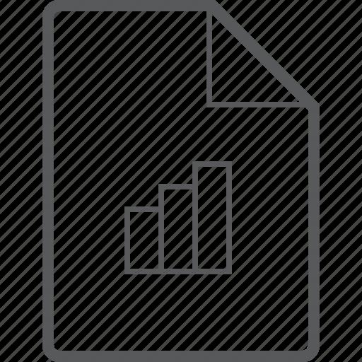 chart, column, diagram, document, increase, statistics, up icon