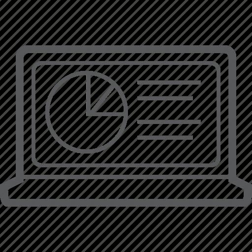 Chart, circle, laptop, analytics, diagram, graph, statistics icon - Download on Iconfinder