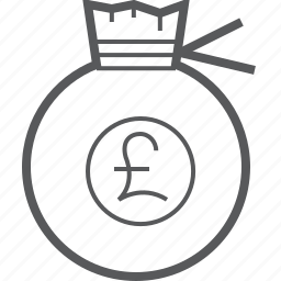 bag, cash, finance, money, payment, pocket, pound icon