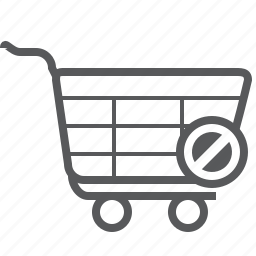access, buy, cart, deny, shop, shopping, trolley icon