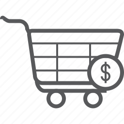 cart, cash, currency, dollar, money, shopping, trolley icon