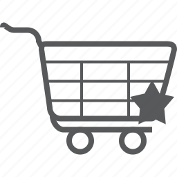 bookmark, cart, favorite, favourite, like, star, trolley icon