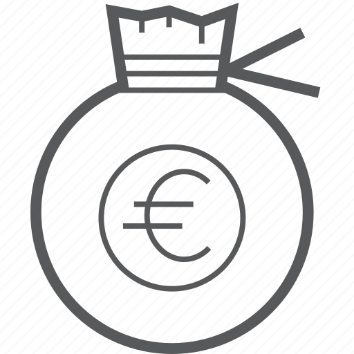 bag, currency, euro, guardar, money, payment, pocket, save icon