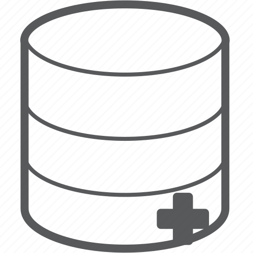 add, create, database, file, plus, server, storage icon