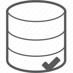 checked, data, database, hosting, server, storage, success icon