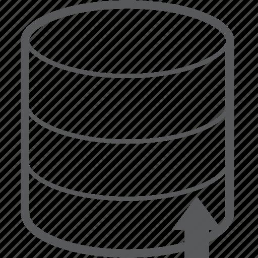 arrow, database, hosting, server, storage, up, upload icon