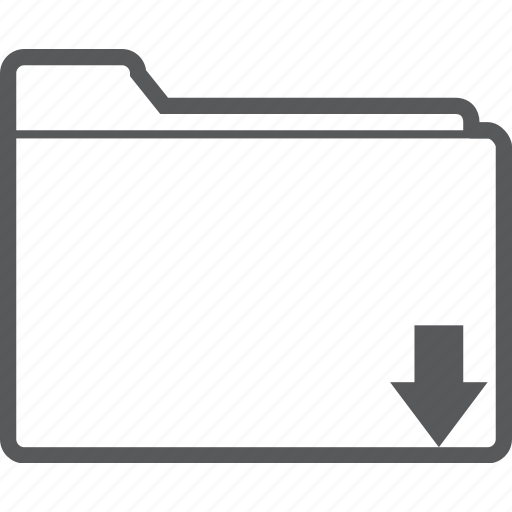 arrow, database, document, down, download, folder, storage icon