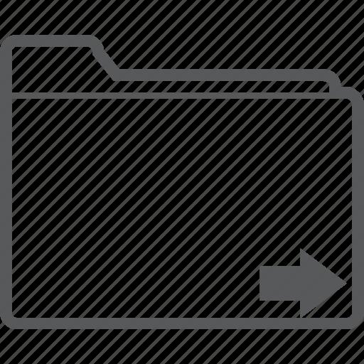 database, file, folder, forward, next, right, storage icon
