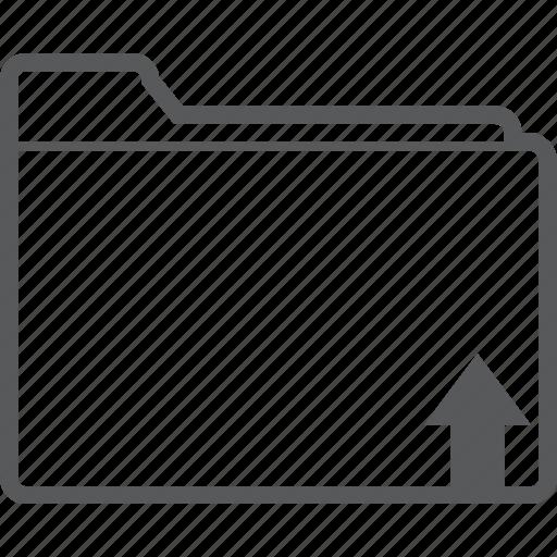 arrow, data, file, folder, storage, up, upload icon