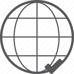checked, connection, global, internet, network, social, success icon