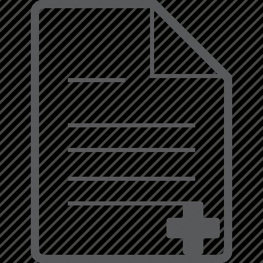 add, create, database, document, file, plus, sheet icon