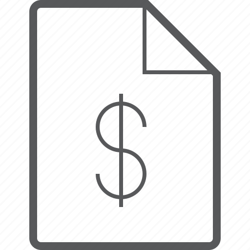 currency, data, document, dollar, file, finance, money icon