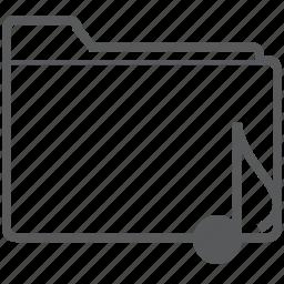 database, document, eighth, folder, music, musical, note icon
