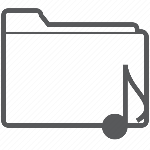 database, document, eighth, folder, music, musical, note icon
