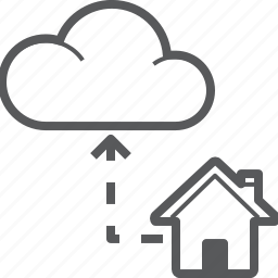 cloud, cloudy, database, house, share, storage, sync icon