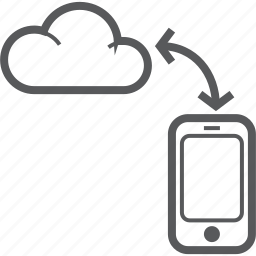 cellphone, cloud, mobile, phone, share, smart, sync icon