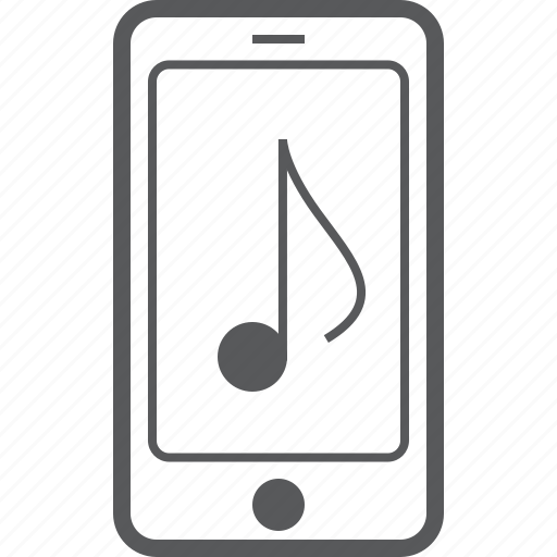 cellphone, eighth, music, musical, note, phone, smart icon