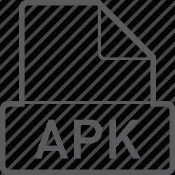 apk, basic, file icon