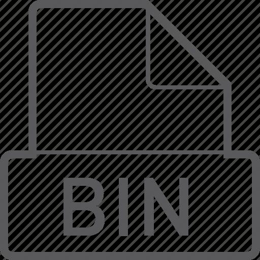 basic, bin, file icon